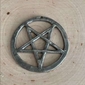 Inverted Pentagram Pendant Sterling